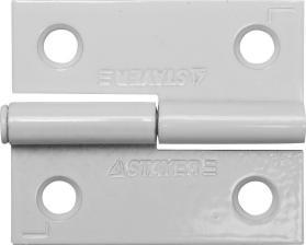 Петля стальная разъемная размер - 50.8x42.8x1.8мм Цвет - белый. Тип - левая. STAYER MASTER 37613-50-2L