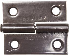 Петля стальная разъемная размер - 50.8x42.8x1.8мм Цвет - коричневый. Тип - правая. STAYER MASTER 37613-50-3R