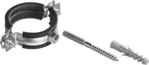 Хомут трубный в комплекте с сантехнической шпилькой и дюбелем ЗУБР МАСТЕР 37866-47-51