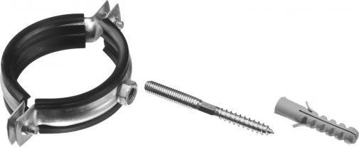 Хомут трубный в комплекте с сантехнической шпилькой и дюбелем ЗУБР МАСТЕР 37866-59-64